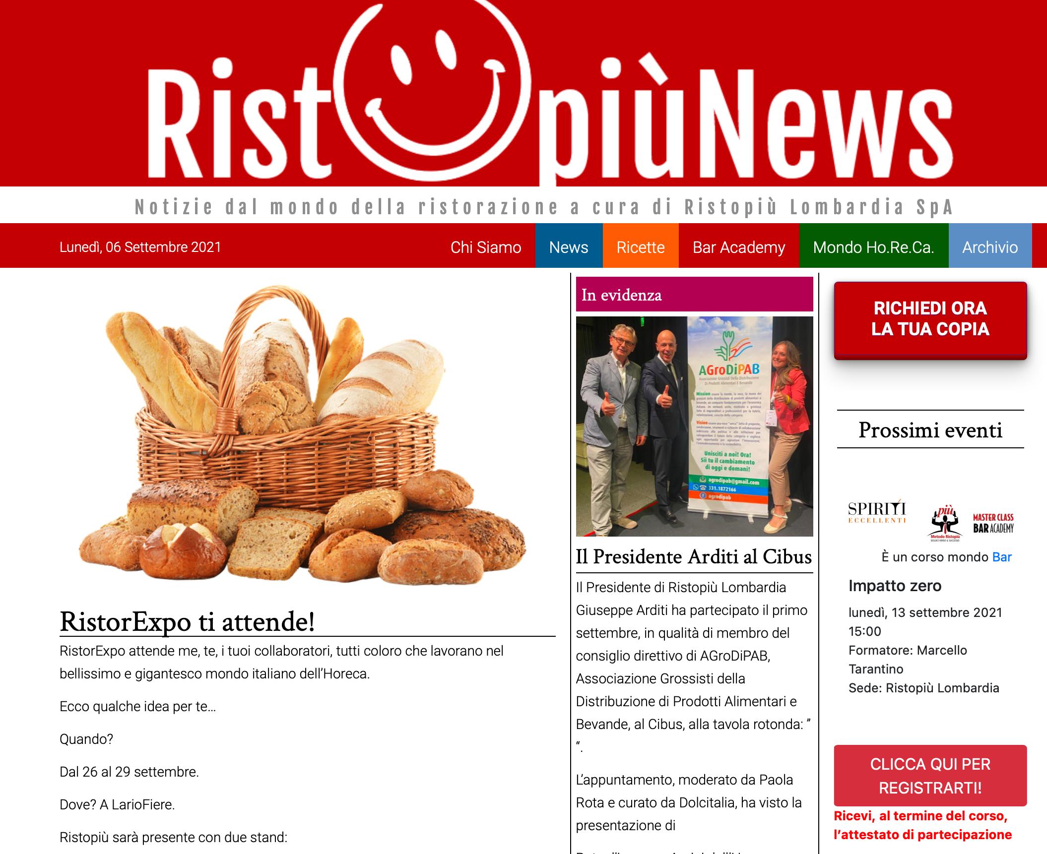 Leggi RistopiùNews?